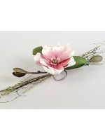 Tischdeko Magnolie rosa-weiss