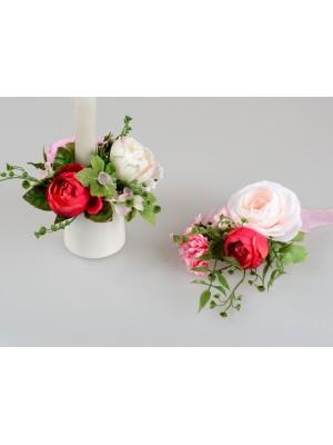 Formano Tischdeko Rosenmix rosa