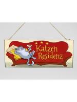 Schild Metall Katzen-Residenz