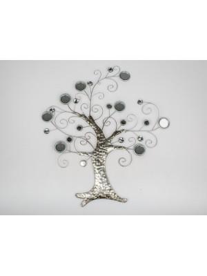Wanddeko Baum Metall Spiegel
