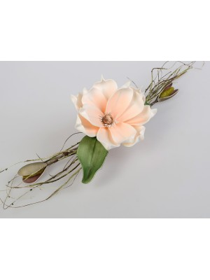 Tischdeko Blume lachs-weiss