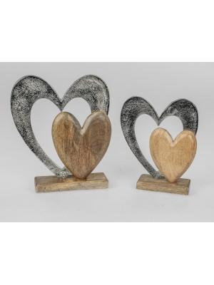 Formano Deko-Herz Alu Mango-Holz groß