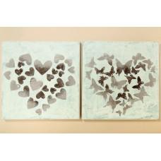 Bild Herzen/Schmetterling