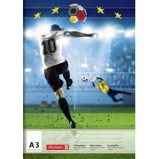 Brunnen Zeichenblock A3 Fußball
