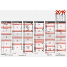 Brunnen Tafelkalender A4 kräftiger Karton 10-701 40
