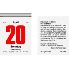 Brunnen Tages-Abreißkalender 53,6 x 71 mm 10-703 02