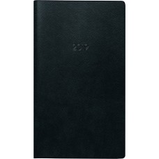 Brunnen Taschenkalender Kunststoff-Einband schwarz 10-750 28 90