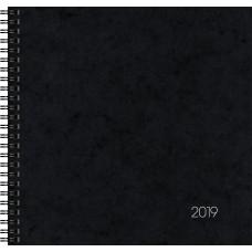 Brunnen Buchkalender Wire-O-Bindung Karton-Einband schwarz 10-766 01 90