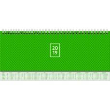 Brunnen Tischkalender Karton-Einband mit verlängerter Rückwand grün 10-772 62 01