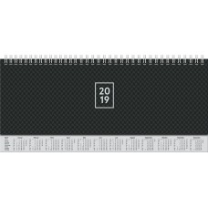 Brunnen Tischkalender Karton-Einband mit verlängerter Rückwand schwarz 10-772 62 90