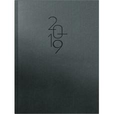 Brunnen Buchkalender Papier-Einband beschichtet, titanium 10-797 67 02