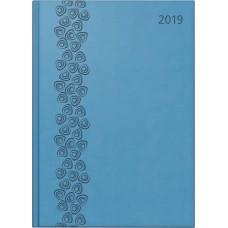 Brunnen Buchkalender Kunstleder-Einband Arabesque blau 10-798 33 90