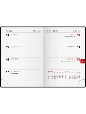 Brunnen Wochenkalender Kunststoff-Einband schwarz 10-713 11 90