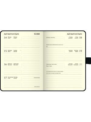 Brunnen  Wochenkalender Kompagnon Baladek-Einband schwarz 10-732 66