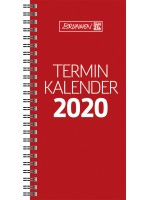 Brunnen Terminkalender Karton-Umschlag glanzkaschiert rot 10-780 01