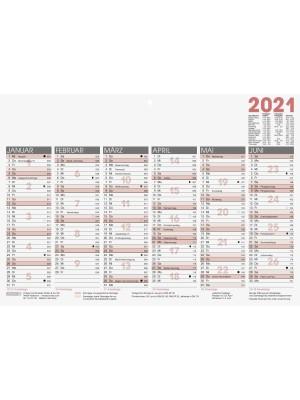 Brunnen Tafelkalender A4 kräftiger Karton 10-701 400 01