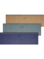 Brunnen Tischkalender Karton-Umschlag Metallico, Rückwand Graupappe 10-771 01 951