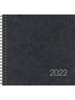 Brunnen Buchkalender Wire-O-Bindung Karton-Einband schwarz 10-766 01 902