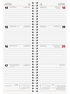 Brunnen Tischkalender Vormerkbuch Modell 783 Karton-Umschlag blau 10-783 01 302