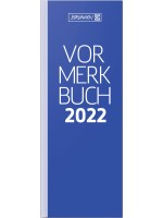 Brunnen Vormerkbuch Modell 784 Deckenband blau 10-784 02 302