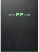 Brunnen Buchkalender PU-Einband flexibel schwarz mit Neonkante grün 10-796 34 902