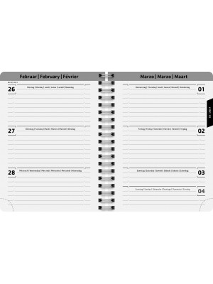 Brunnen Schülerkalender 2020/2021 Confetti A6 PP-Einband  18 Monate