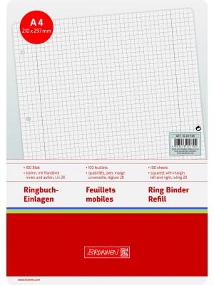 Brunnen Ringbucheinlagen A4 kariert mit Randlinien, Lin. 28 100 Blatt