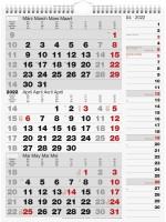 rido/idé Wandkalender 3-Monatskalender 70-33 330 002