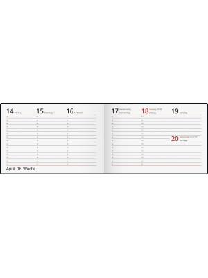 rido/idé Taschenkalender Modell Septimus Papier-Einband Linea schwarz 70-17 561 90