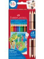 "Faber-Castell Colour Grip Buntstift Charity Set  ""Children of the World"" 10+3"