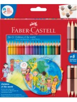 "Faber-Castell Colour Grip Buntstift Charity Set  ""Children of the World"" 20+3"