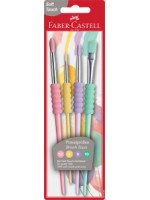 Faber Castell Pinsel Set Pastell Softgriffstück 4er