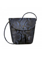 Tom Tailor Denim Flapbag Ida Snake blau